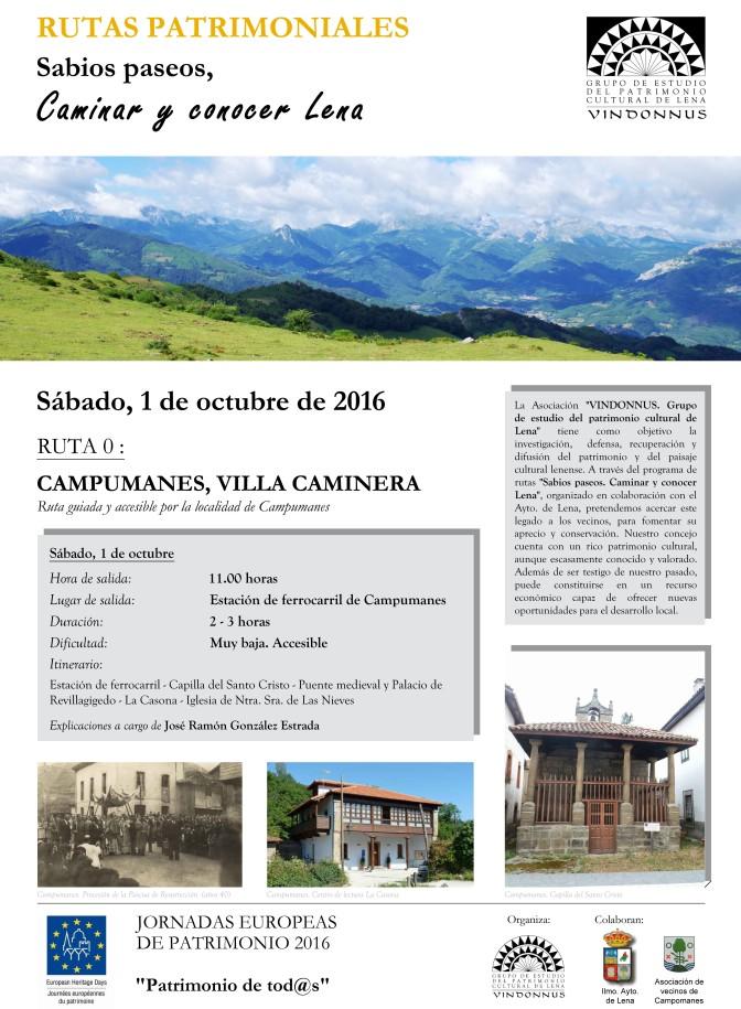 RUTA 0: CAMPUMANES, VILLA CAMINERA